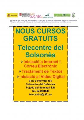 Nous cursos al Telecentre del Solsonès