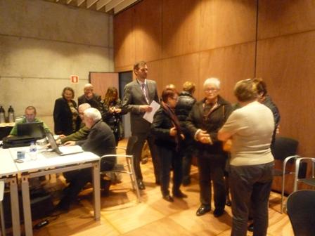 Primera reunió conjunta seniors Solsona-seniors Cornellà en el Citilab