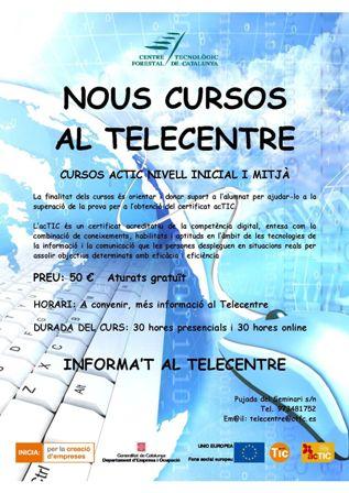 Nous cursos ACTIC al Telecentre del Solsonès