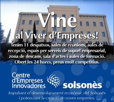 El CEI Solsonès ja accepta propostes d'empreses per instal·lar-s'hi