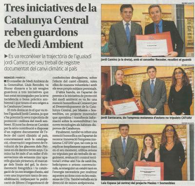 Premiat el projecte Masies + Sostenibles