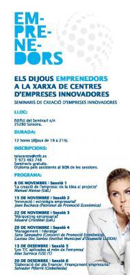 Nous Cursos per a emprenedors al CEI Solsonès